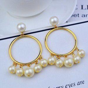 Kate Spade Pearl Round Multi|Dangle Earrings